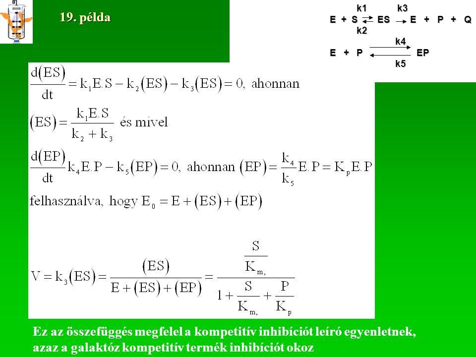 Yang és Okos (1989) egy alternatív modellt dolgoztak ki az Aspergillus niger laktáza által katalizált laktóz bontásra (l.