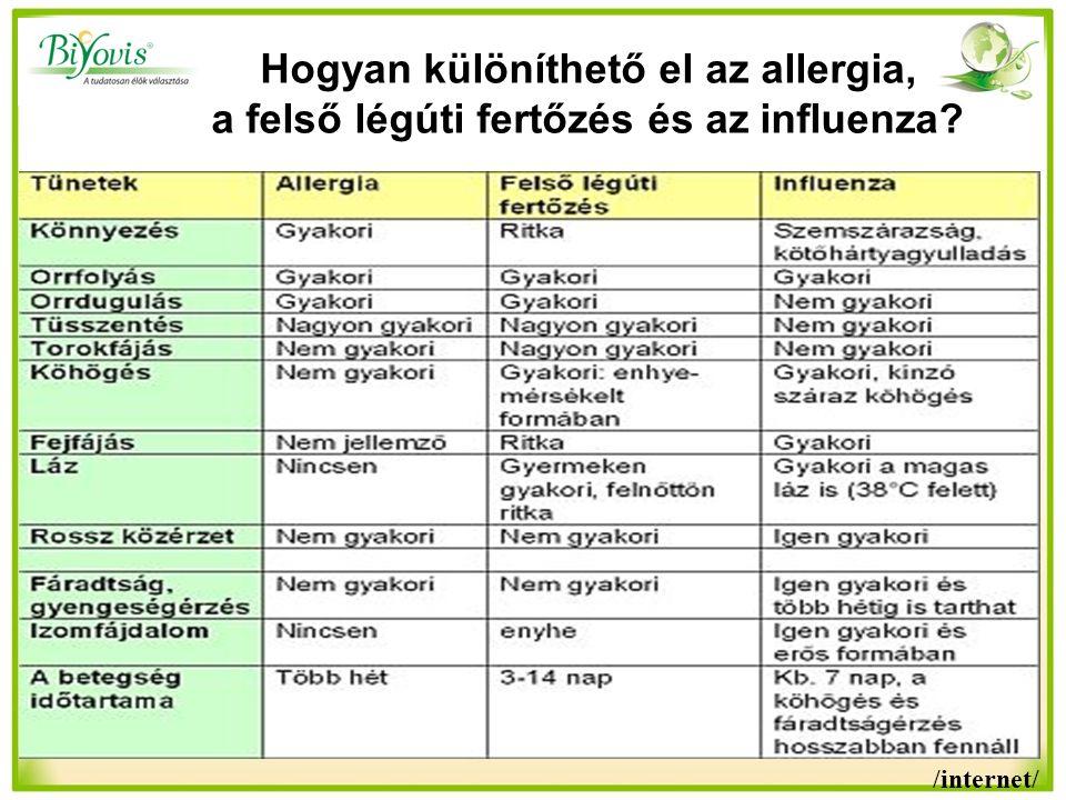 Hogyan különíthető el az allergia, a felső légúti fertőzés és az influenza? /internet/