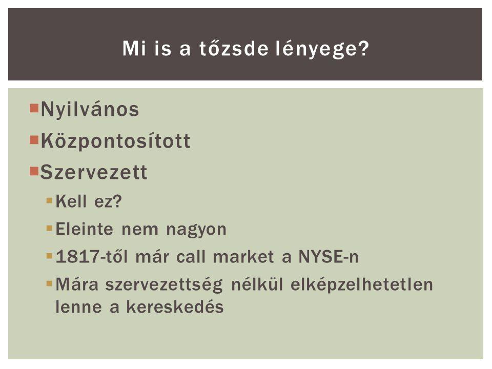  Ha a piaci szereplők nagy része egyszerre dönt a piac elhagyása, a kivárás mellett, az  Likviditási sokkot idéz elő  Önbeteljesítő jóslatként viselkedik  Nagyon fontosak a beépített védekező mechanizmusok (LRP, SLF)  Fontos a nagyfrekvenciás adatok gyors és pontos elérhetősége Tanulságok II.