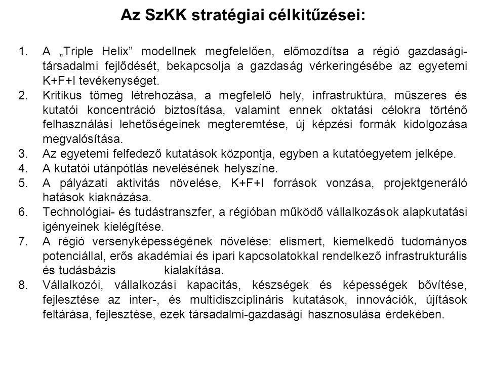Az SzKK további céljai: 1.A PTE Magyarország első vállalkozó egyetemének a motorja kíván lenni a szervezet, 2.A Szentágothai János Kutatási, Innovációs és Vállalkozásfejlesztési Központ kialakítása (K+F+I valamint vállalkozásfejlesztési területek egyetlen központba történő integrálása), 3.Vállalkozói, s innovációs kapacitásbővítés, 4.Régiós gazdasági szereplők egyetemi tevékenységbe történő beágyazása, 5.Gyakorlati szakemberek bevonása a kiemelt kutatásokba és a kapacitásteremtés folyamatába, 6.Duális képzés támogatása és diákok vonzása a gazdasági szereplőkkel való együttműködés révén,