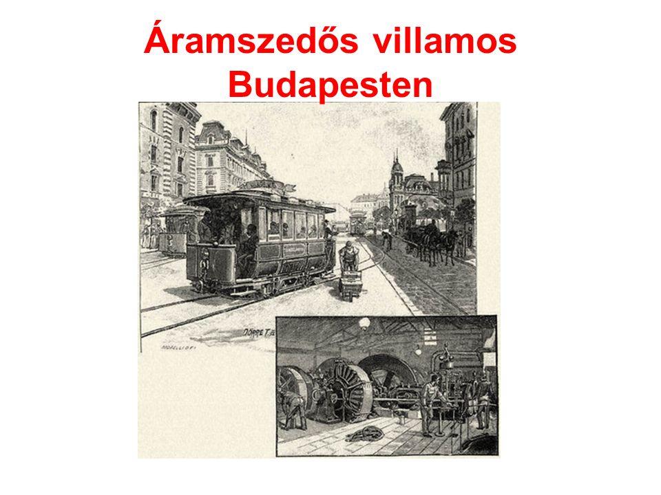 Áramszedős villamos Budapesten