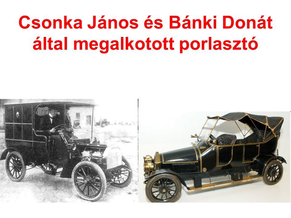 Csonka János és Bánki Donát által megalkotott porlasztó