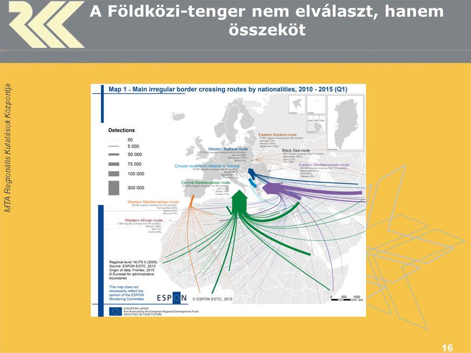 MTA Regionális Kutatások Központja A Földközi-tenger nem elválaszt, hanem összeköt 16