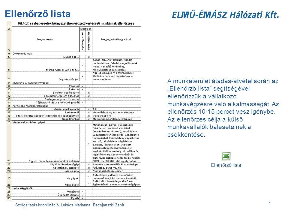 Szolgáltatás koordináció, Lukács Marianna, Becsjanszki Zsolt 10 A belesetek nem bekövetkeznek, hanem okozzák azt.