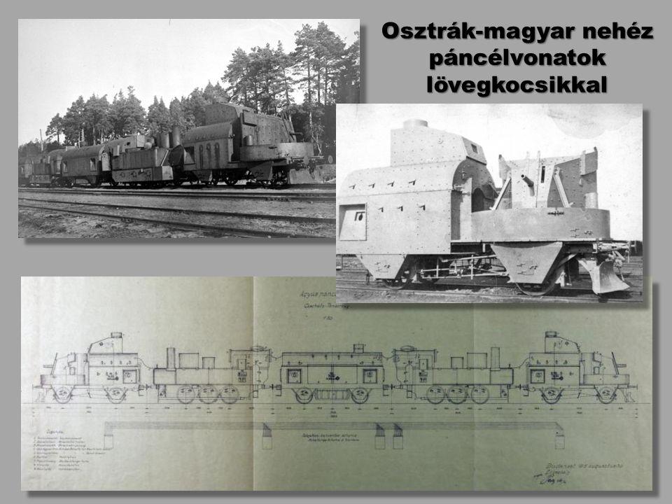 Osztrák-magyar nehéz páncélvonatok lövegkocsikkal