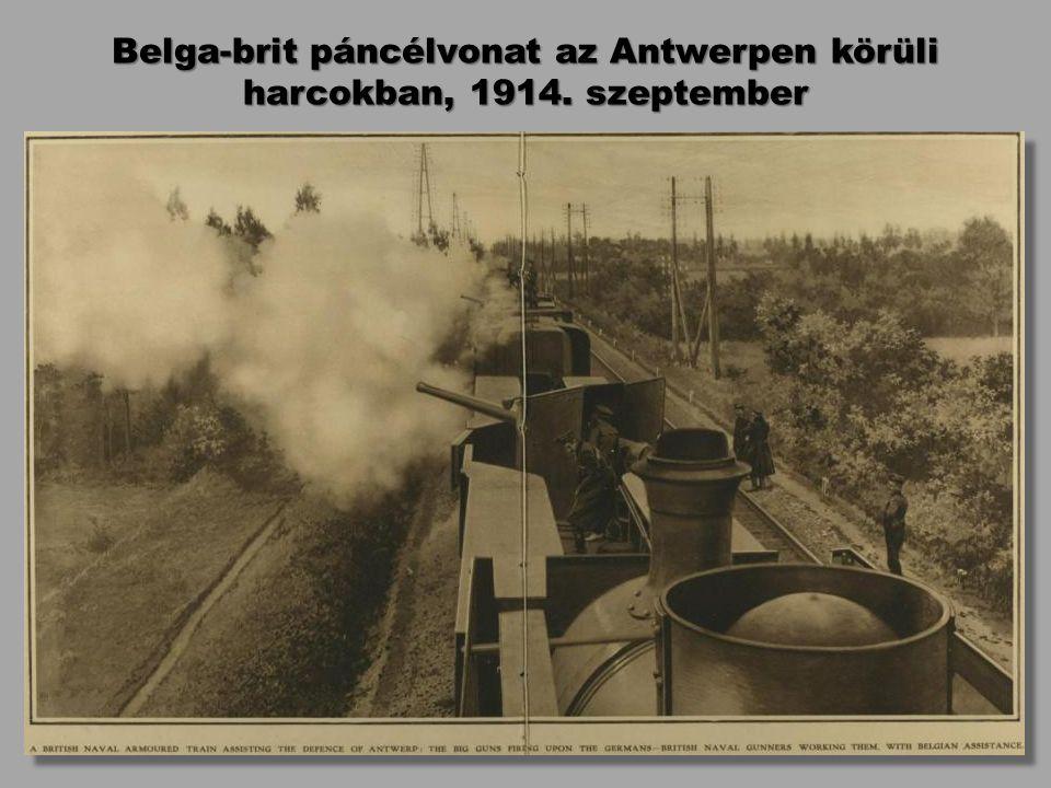 Belga-brit páncélvonat az Antwerpen körüli harcokban, 1914. szeptember