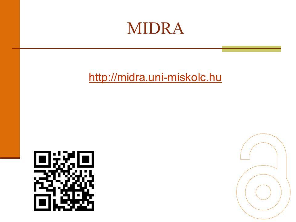 http://midra.uni-miskolc.hu MIDRA
