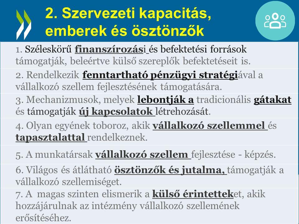 2. Szervezeti kapacitás, emberek és ösztönzők 1.