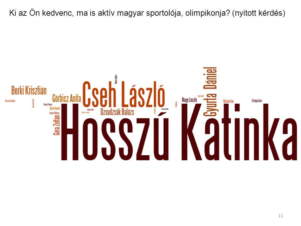 Ki az Ön kedvenc, ma is aktív magyar sportolója, olimpikonja? (nyitott kérdés) 11