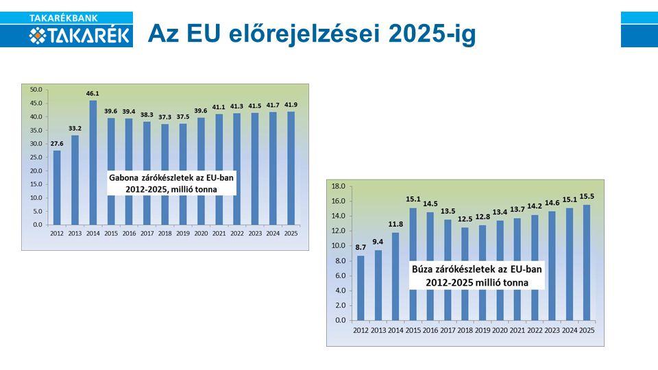Az EU előrejelzései 2025-ig
