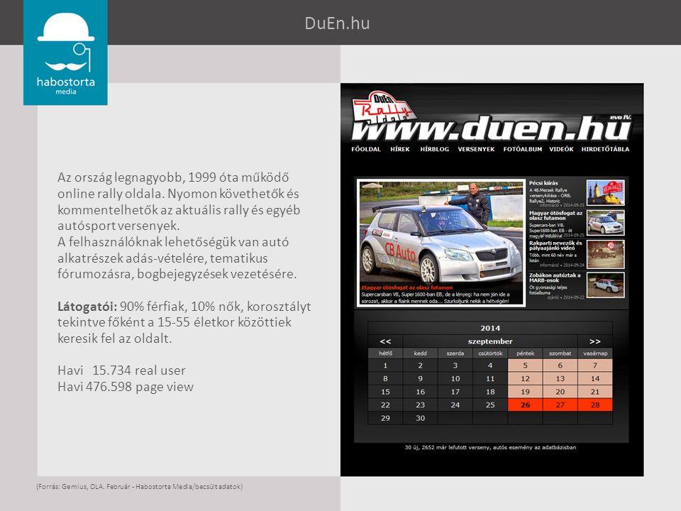 DuEn.hu Az ország legnagyobb, 1999 óta működő online rally oldala. Nyomon követhetők és kommentelhetők az aktuális rally és egyéb autósport versenyek.