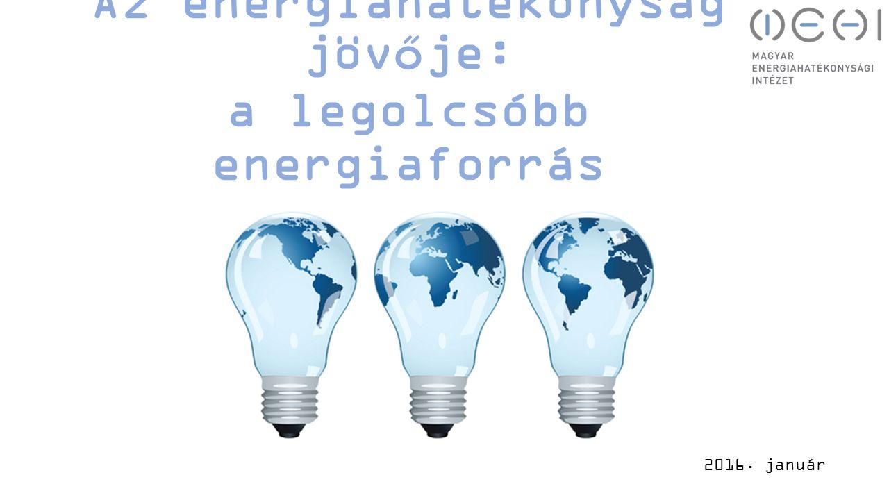 Az energiahatékonyság jövője: a legolcsóbb energiaforrás 2016. január