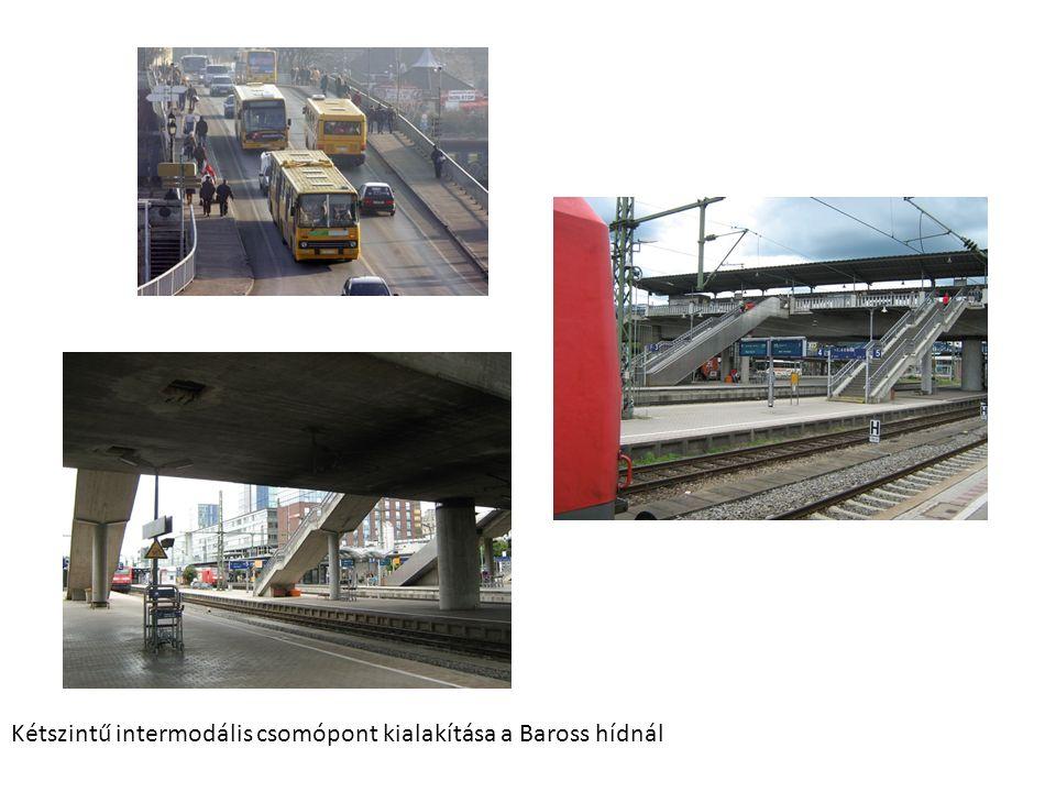 Kétszintű intermodális csomópont kialakítása a Baross hídnál