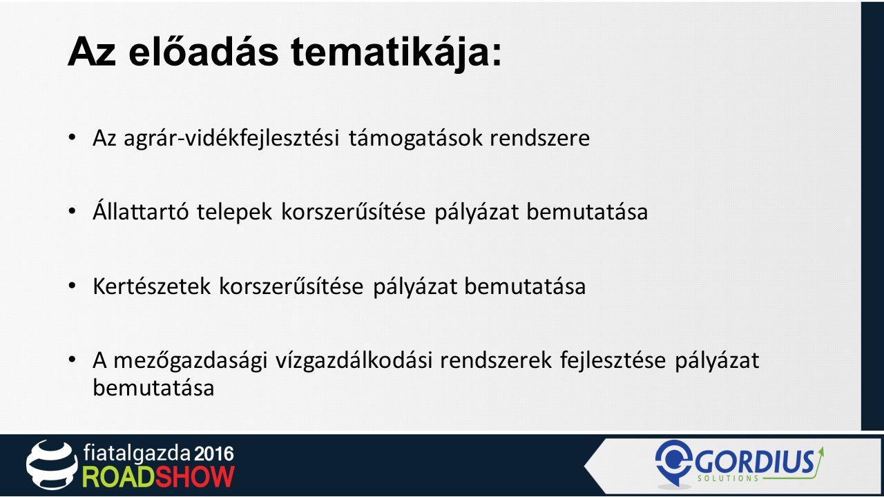 Az agrár-vidékfejlesztési támogatások rendszere Magyarországon KAP I.