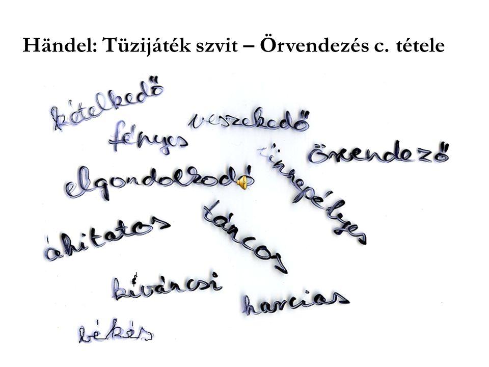Händel: Tüzijáték szvit – Örvendezés c. tétele