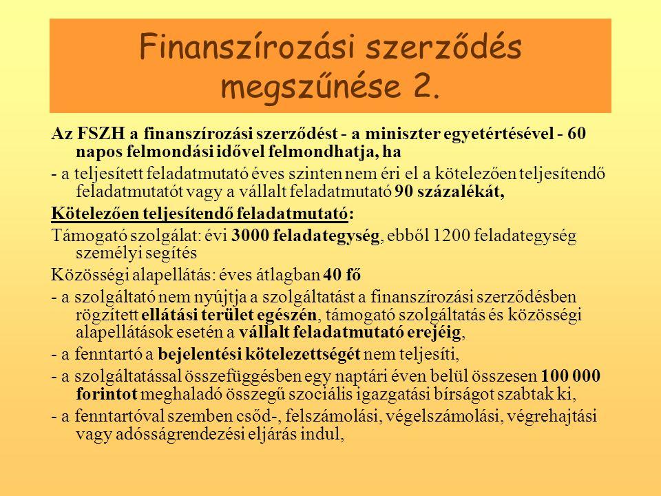 Finanszírozási szerződés megszűnése 2.