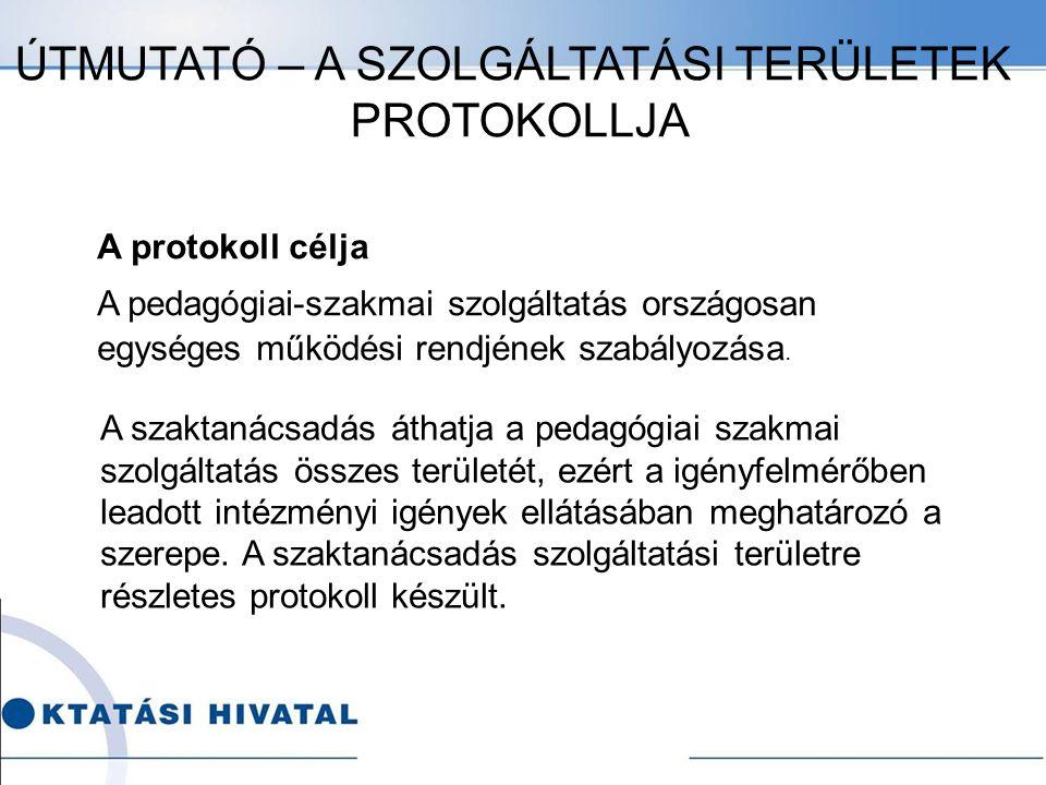 A protokoll célja A pedagógiai-szakmai szolgáltatás országosan egységes működési rendjének szabályozása.