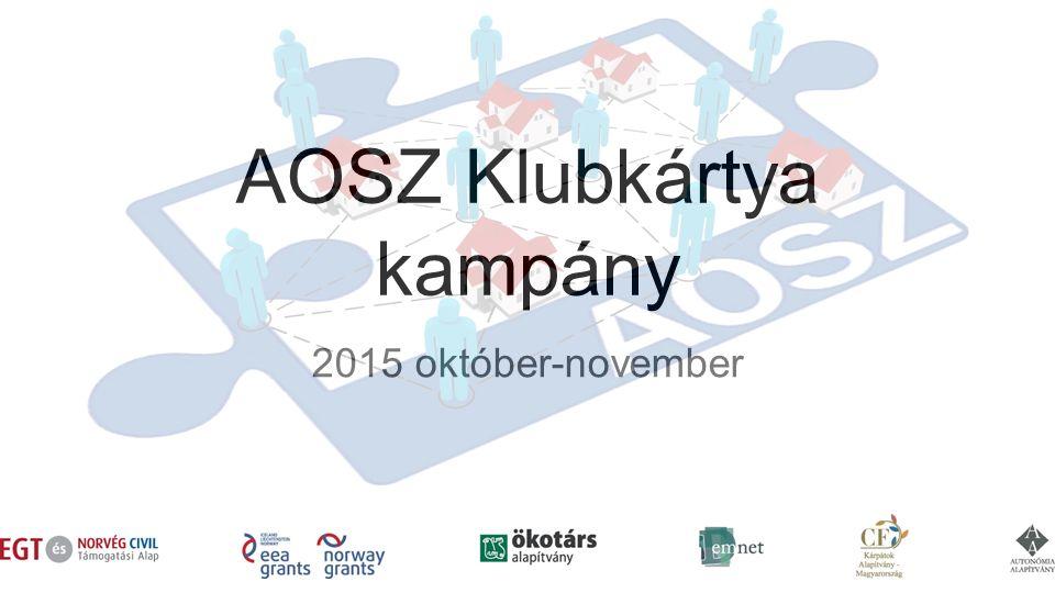 AOSZ Klubkártya kampány 2015 október-november