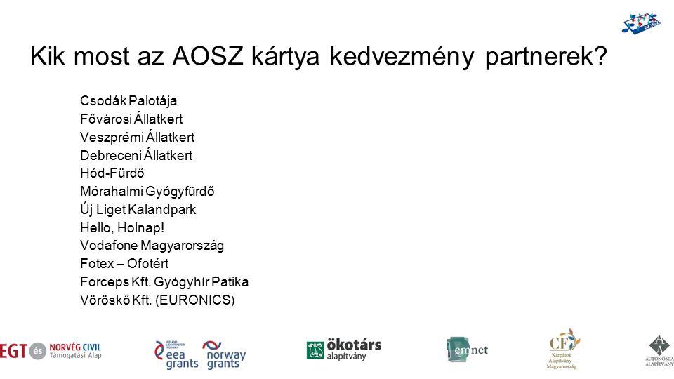 Kik most az AOSZ kártya kedvezmény partnerek.