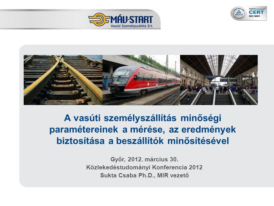 12 A minőségi paraméterek alakulása - ÁLLOMÁS 2011. évi állomás minősítési mutatók
