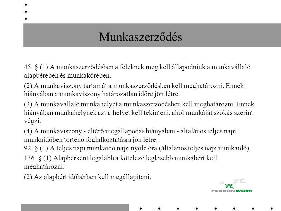 Munkaszerződés 45.