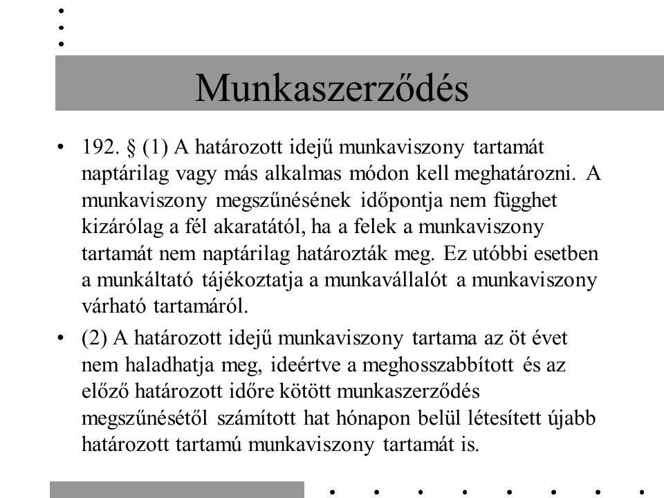 Munkaszerződés 192.