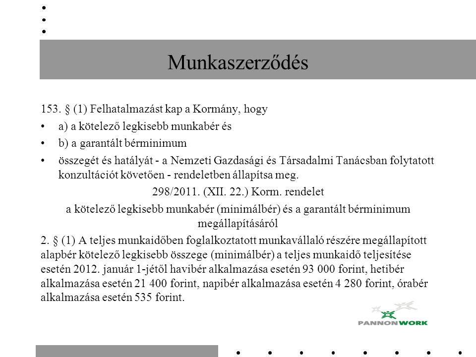 Munkaszerződés 153.