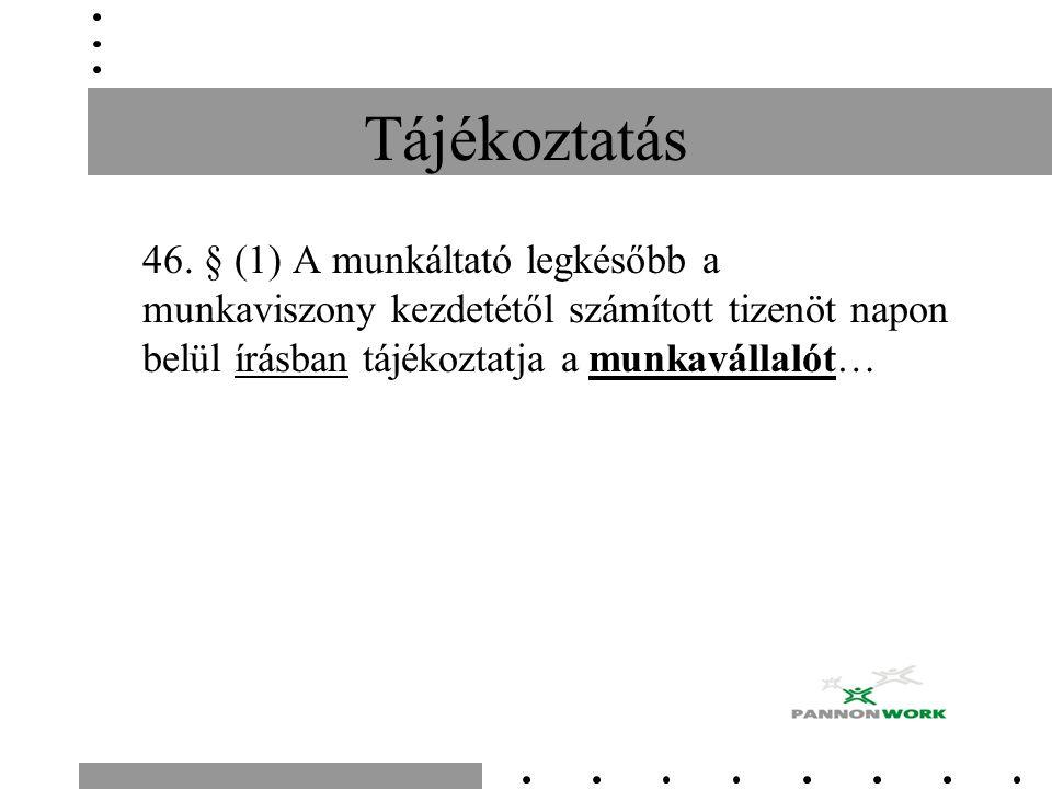 Tájékoztatás 46.