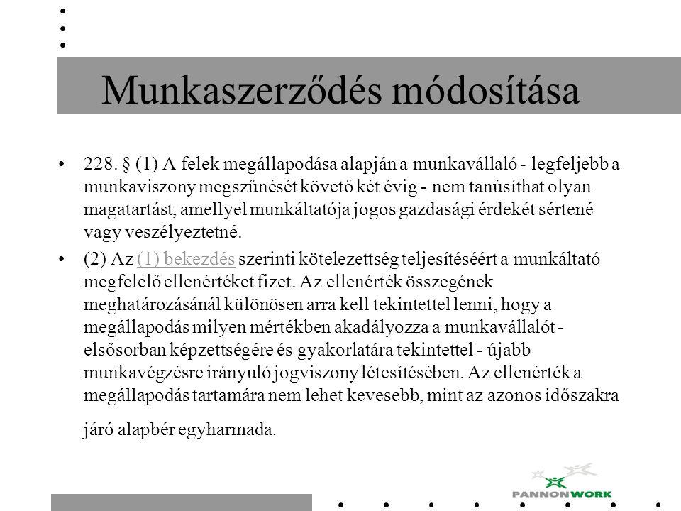 Munkaszerződés módosítása 228.