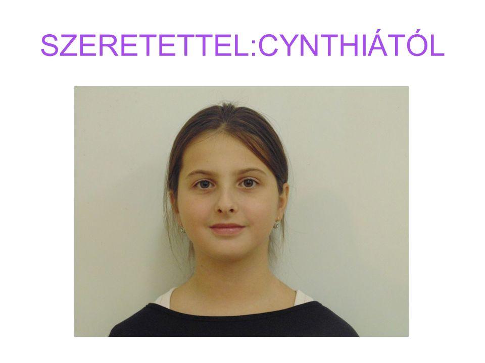 SZERETETTEL:CYNTHIÁTÓL