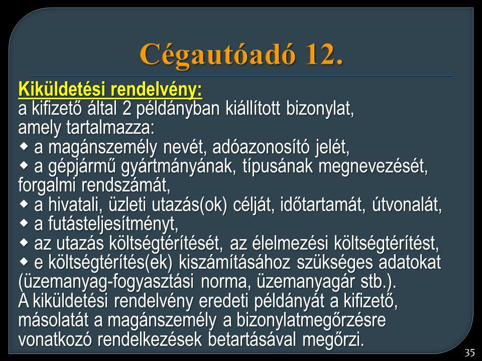 35 Cégautóadó 12.