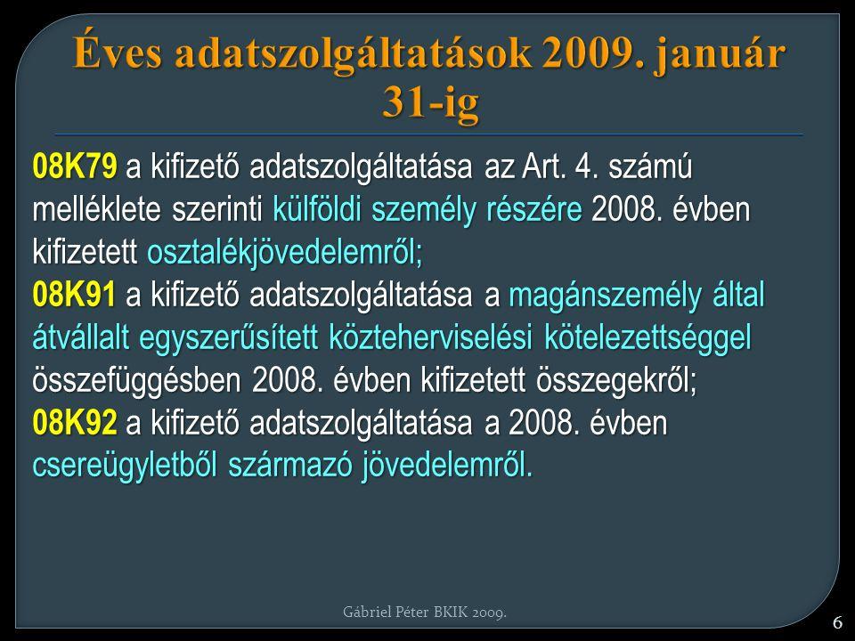 Adószámfelfüggesztés 2009.