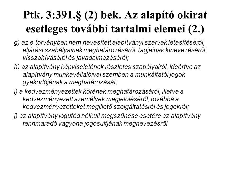 Ptk. 3:391.§ (2) bek.