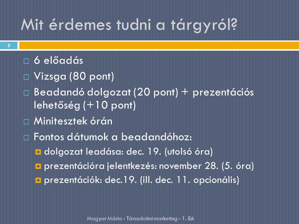 Mit érdemes tudni a tárgyról?  6 előadás  Vizsga (80 pont)  Beadandó dolgozat (20 pont) + prezentációs lehetőség (+10 pont)  Minitesztek órán  Fo