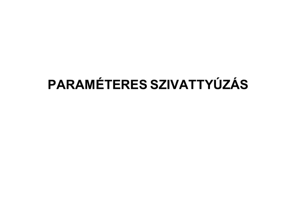 PARAMÉTERES SZIVATTYÚZÁS