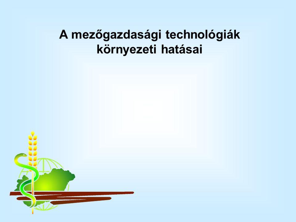 A mezőgazdasági technológiák környezeti hatásai