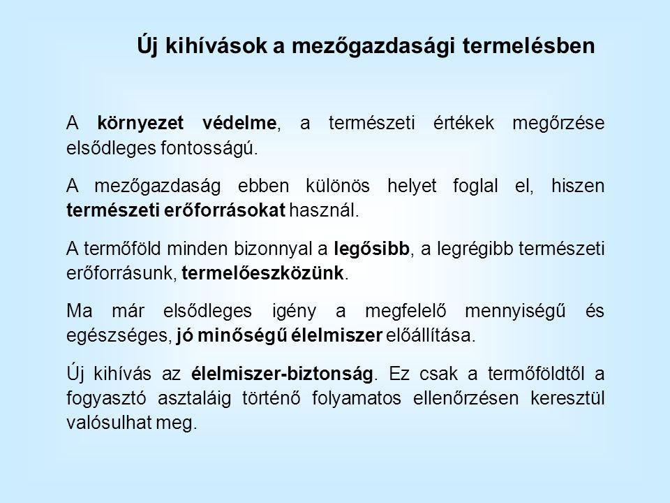 Peszticidfelhasználás megoszlása Magyarországon