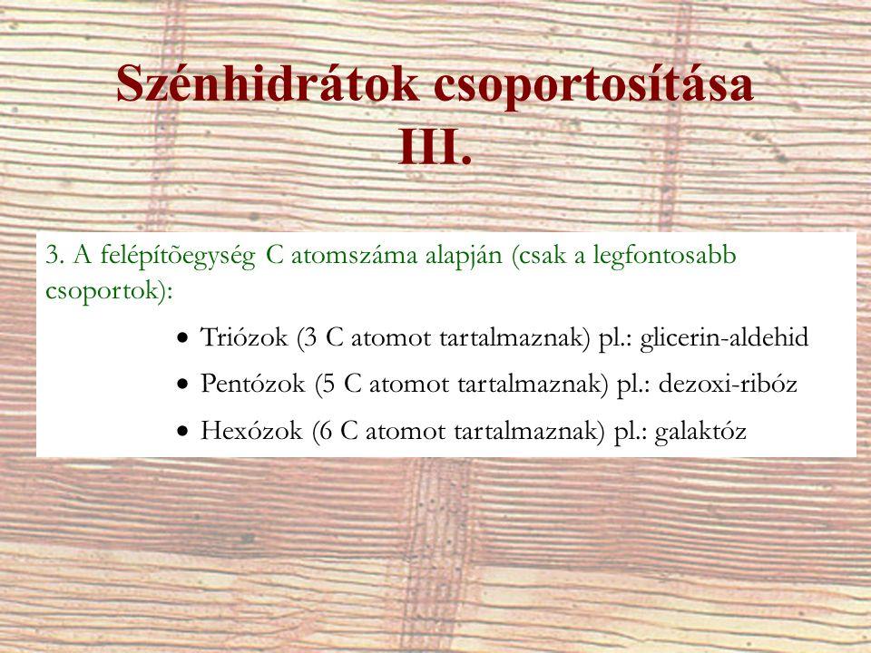 Monoszacharidok XI.