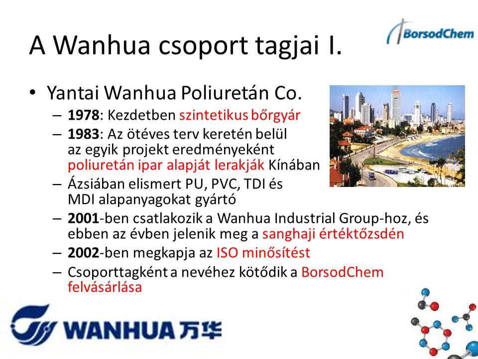 A Wanhua csoport tagjai I. Yantai Wanhua Poliuretán Co.