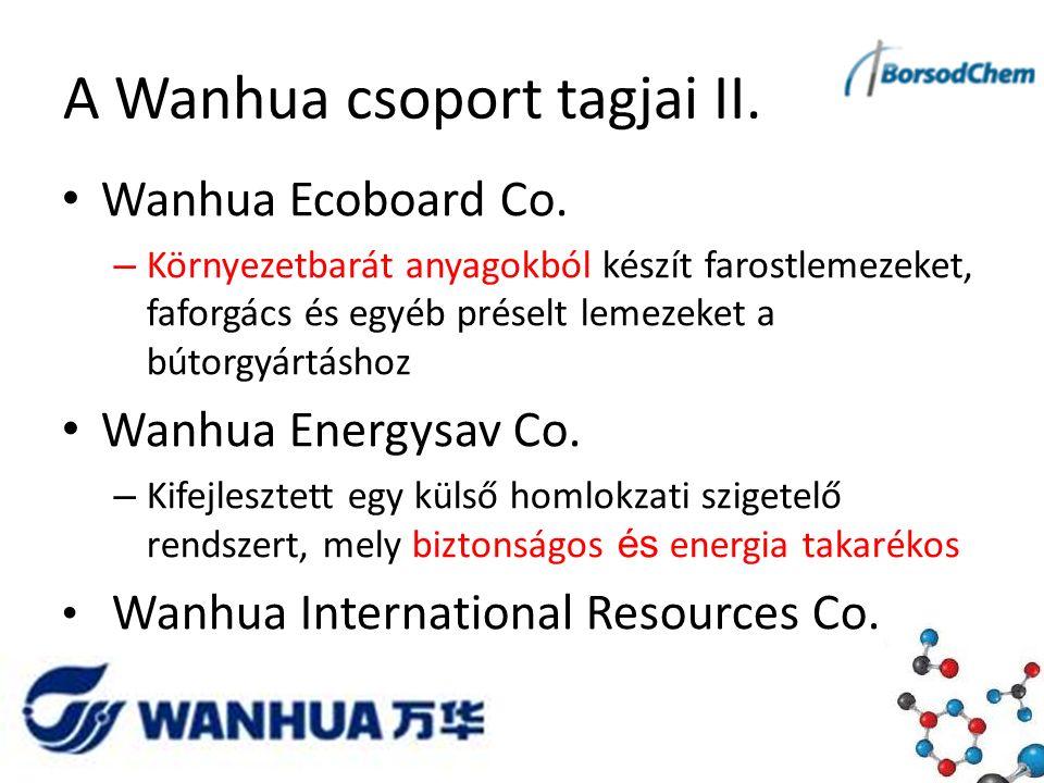 A Wanhua csoport tagjai II. Wanhua Ecoboard Co.