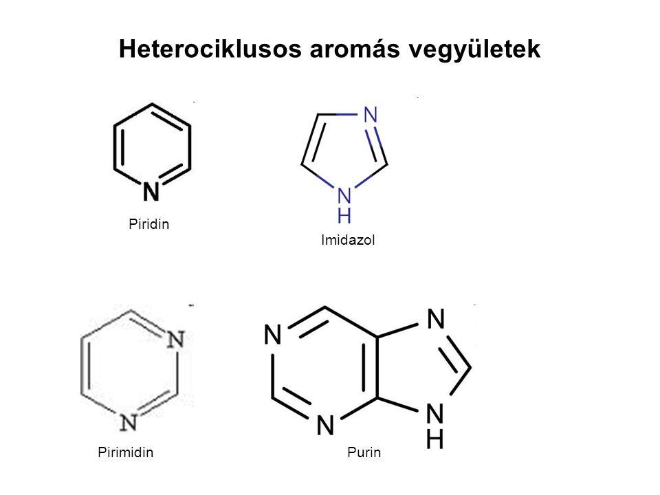Heterociklusos aromás vegyületek Piridin Imidazol PirimidinPurin