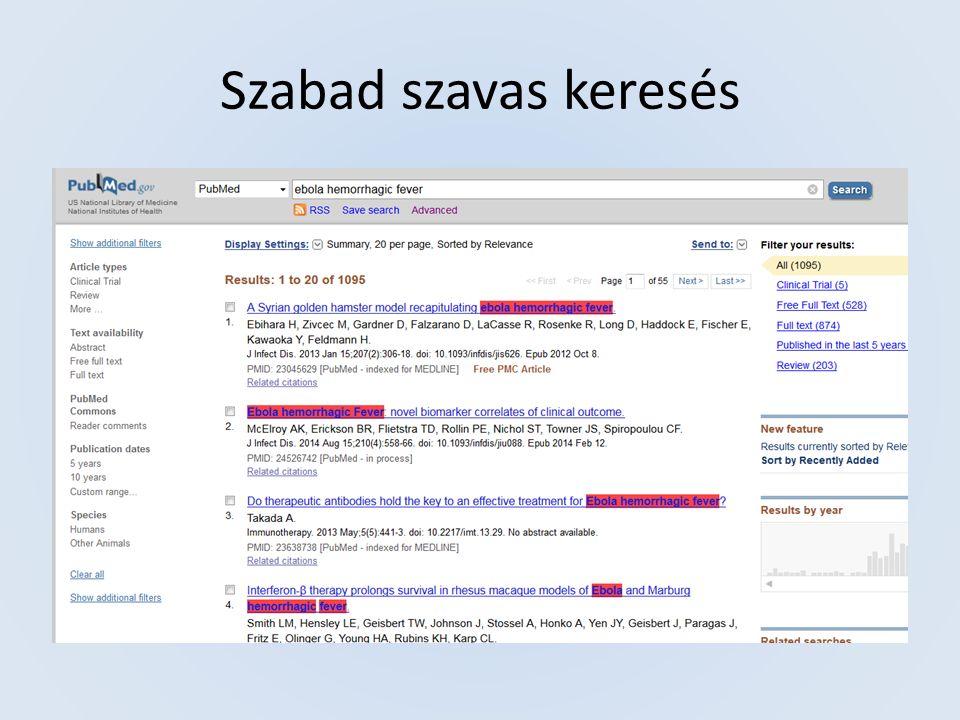 Egy PubMed rekord