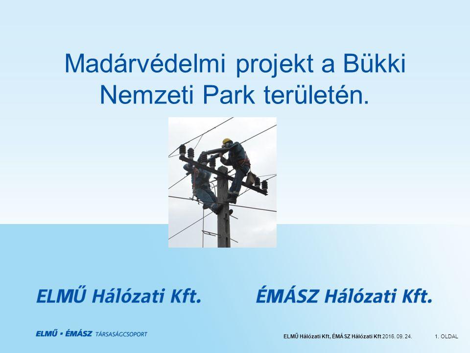ELMŰ Hálózati Kft, ÉMÁSZ Hálózati Kft 2016. 09. 24.1. OLDAL Madárvédelmi projekt a Bükki Nemzeti Park területén.