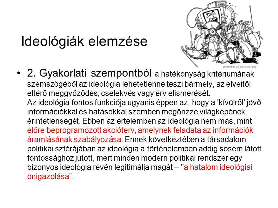 Ideológiák elemzése 2.