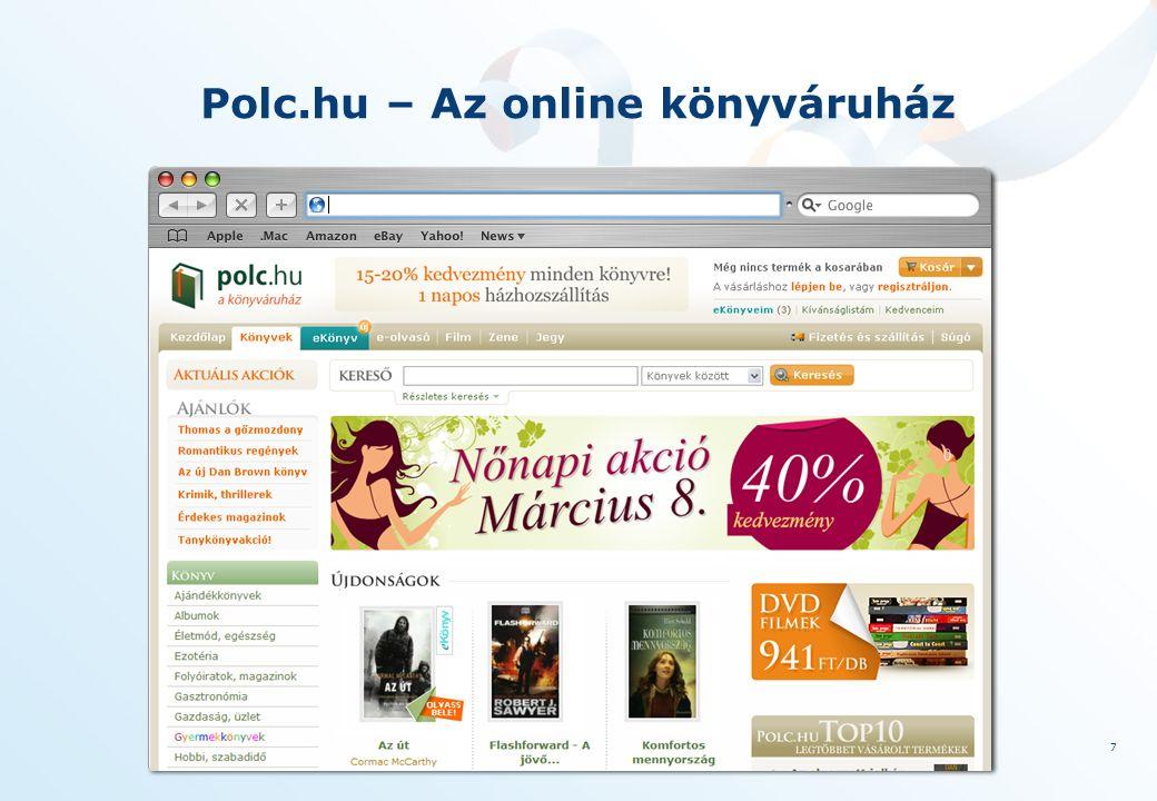 8 A digitális könyv Világszerte ma több mint 3 millió e-könyvolvasó van – négyszázezer jogvédett cím az Amazonon, 2009 karácsonyán több e-könyvet adtal el,mint keménytáblás könyvet Amazon – zárt modell - Barnes and Noble nyitott modell ePub Európa:Waterstones 2009: 350 ezer e-könyvet értékesített, Libri.de - ePub Google - az információ szabadsága – 10 millió kötet Vezető amerikai könyvkiadók becslése szerint 2020-ban minden második könyv e-könyv lesz