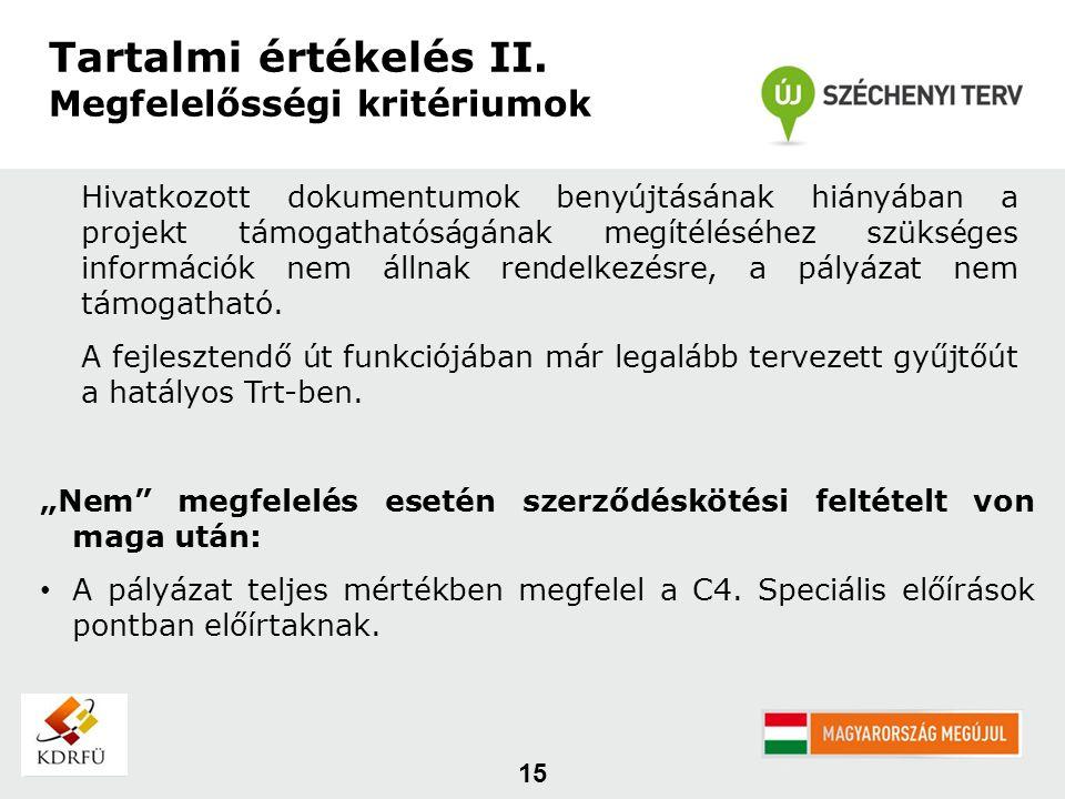 15 Tartalmi értékelés II.