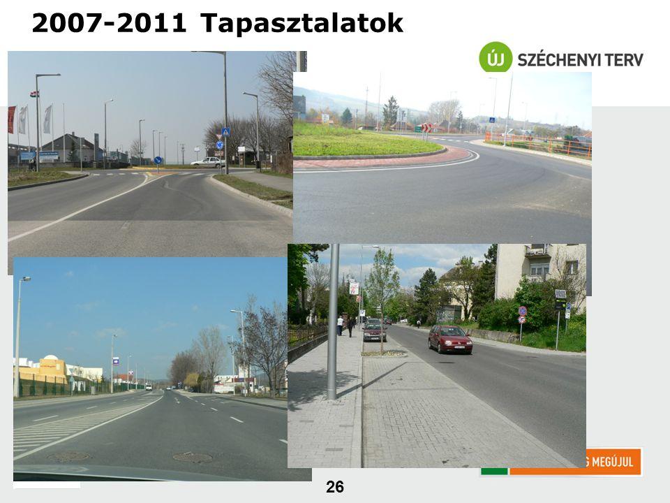 26 2007-2011 Tapasztalatok