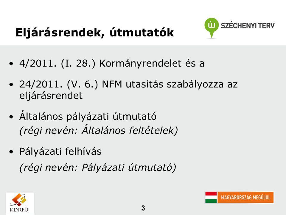 4/2011. (I. 28.) Kormányrendelet és a 24/2011. (V.