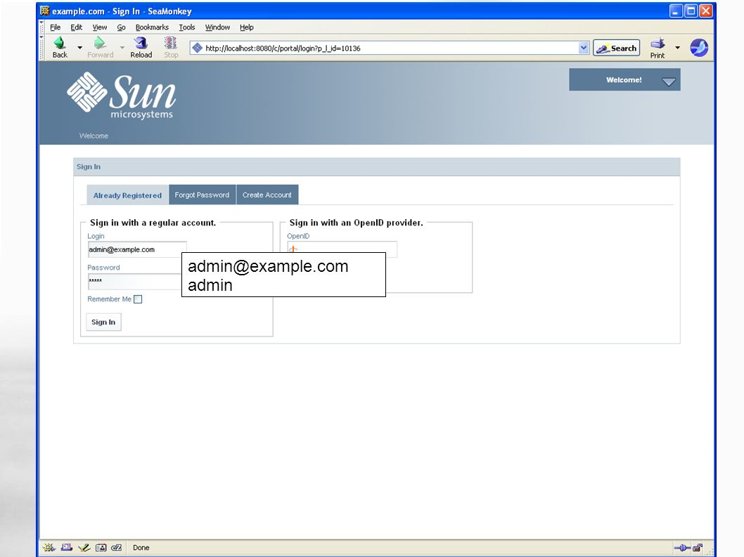 WebSynergy Milestone 3 admin@example.com admin