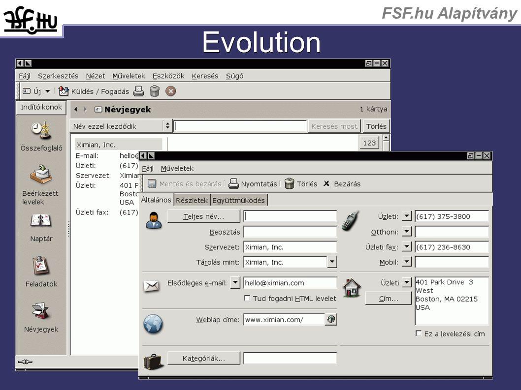 FSF.hu Alapítvány Evolution
